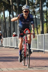 Roberto Ferreira cycling at the Standard Bank Ironman 70.3